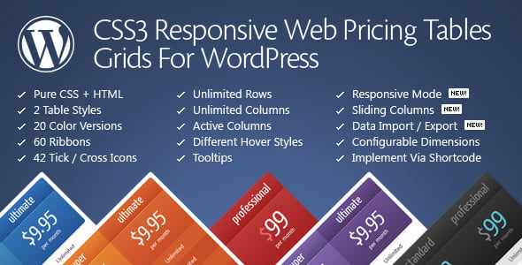 CSS3 Responsive Web Pricing Tables Grids