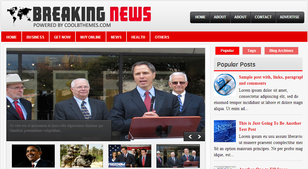 Breaking News Blogger Haber Teması