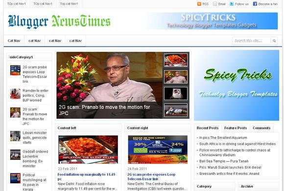 News Times Blogger Haber Teması