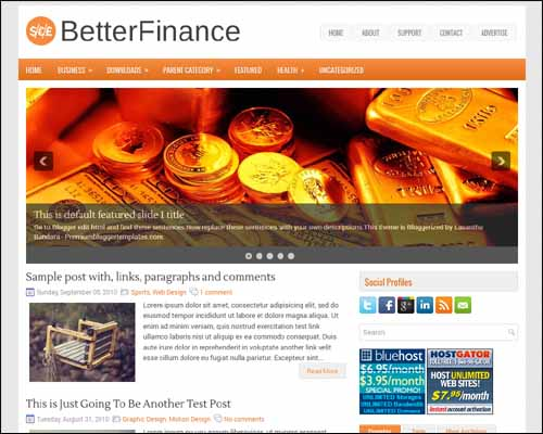 BetterFinance Blogger Tema