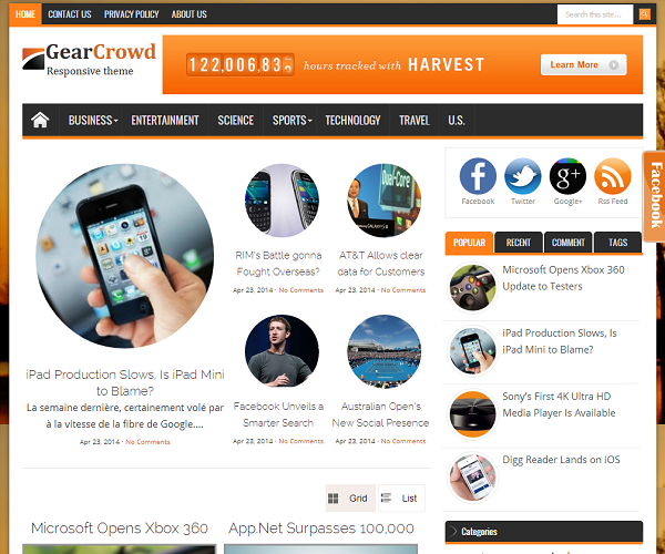 Gear Crowd Blogger Teknoloji Teması