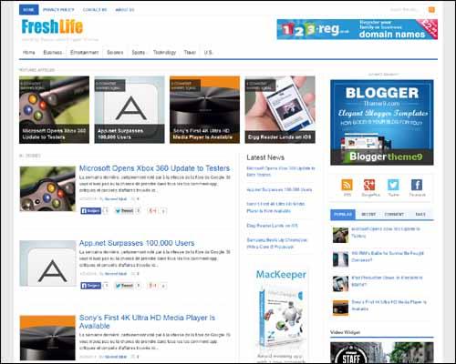 Fresh Life Blogger Teknoloji Teması