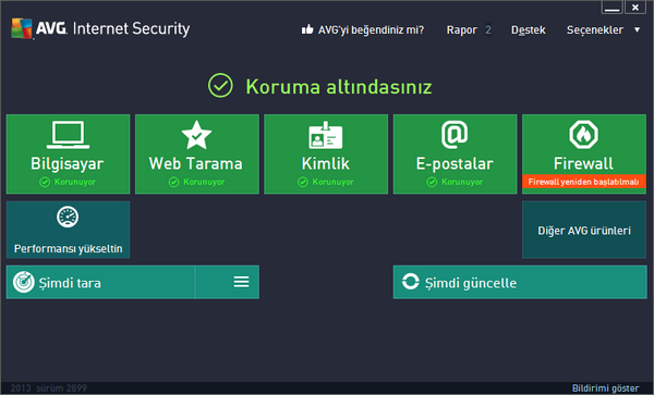 AVG Internet Security 2013 13.0.3258a6152 Türkçe Full