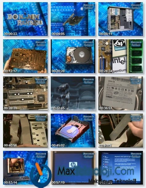 Bilgisayar Donanım Rehberi Eğitim Seti Türkçe (Tek Link) 1