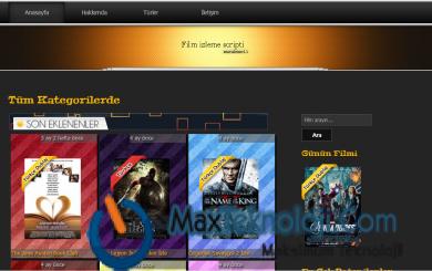 MaxTeknoloji.Com - Film Sitesi Scripti - Program - Script - WordPress Tema - Temalar - Oyunlar - Teknoloji