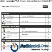 MaxTeknoloji.Com - Site Analiz Scripti