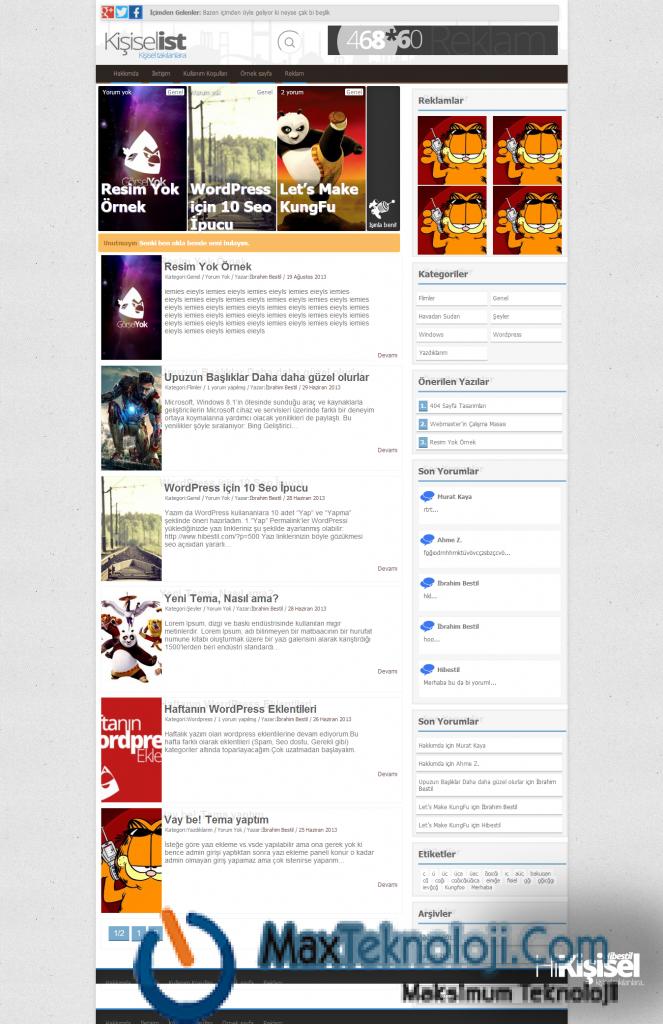 MaxTeknoloji.Com-WordPress-Kisisel-Blog-Temasi