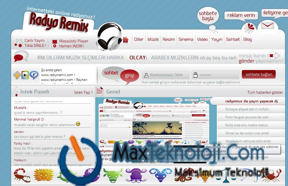 MaxTeknoloji.Com - WordPress Radyo Teması - Radyo Teması - Ücretsiz WordPress Radyo Teması1