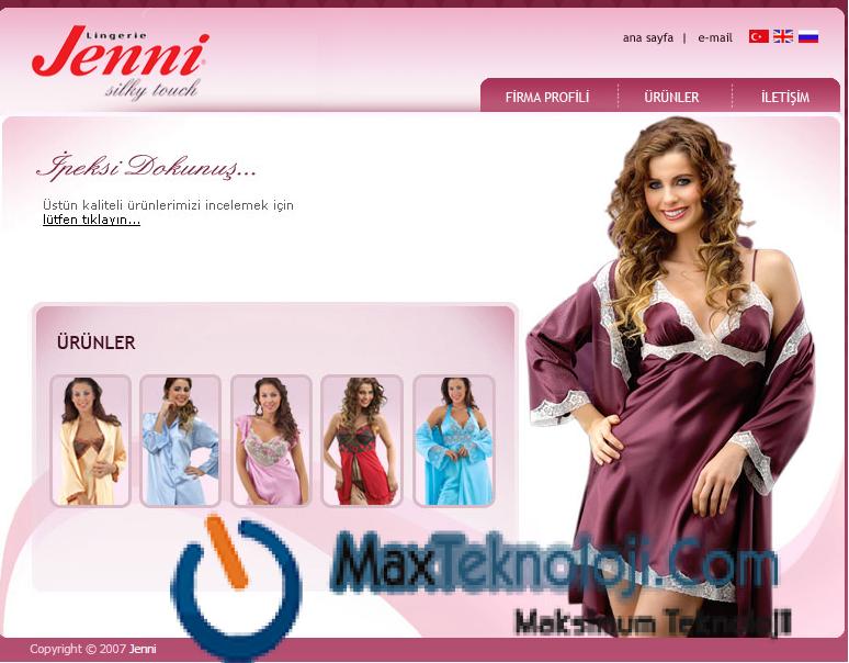 MaxTeknoloji.Com_asp script_bayan_urun_satis_scripti