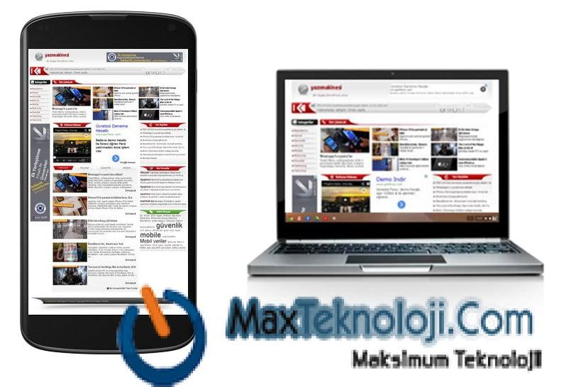 Teknoloji teması blog teması haber teması