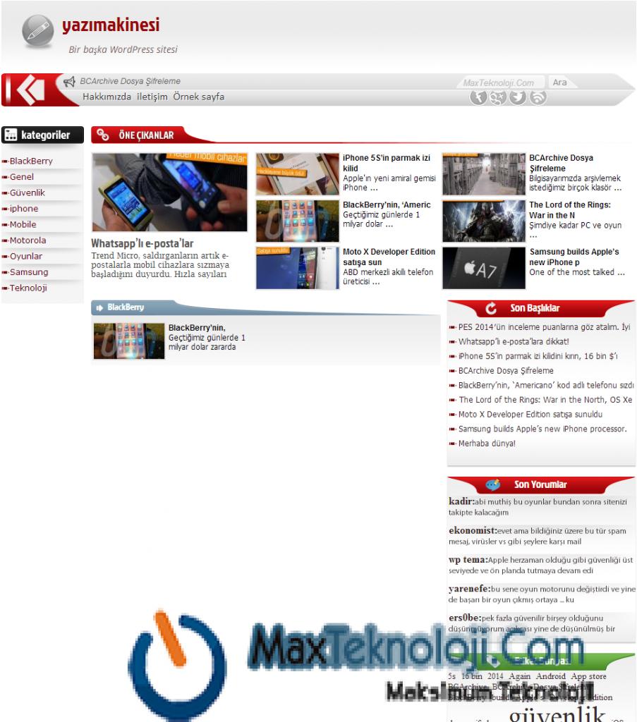 Teknoloji Teması, Blog Teması, Haber Teması5