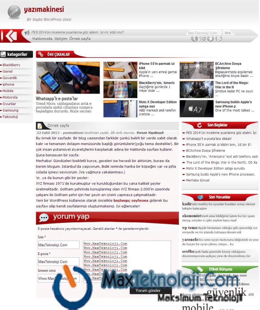 Teknoloji Teması, Blog Teması, Haber Teması6