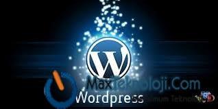 WordPress - Xml yedek alma