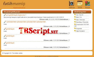 Ücretsiz Blog Scripti