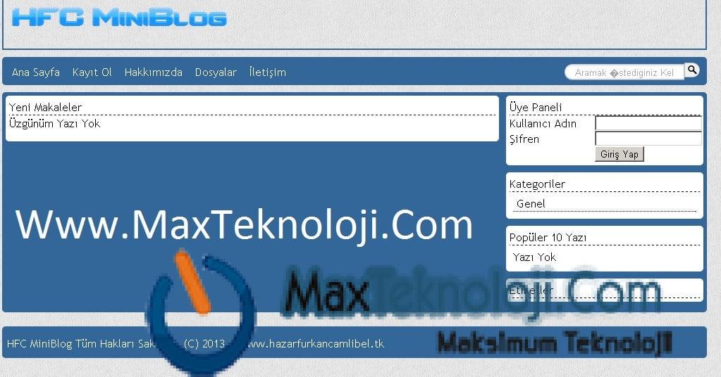 blog scripti, hfc blog, hfc script, scriptci, scriptler, ücretsiz blog script, ücretsiz scriptleri