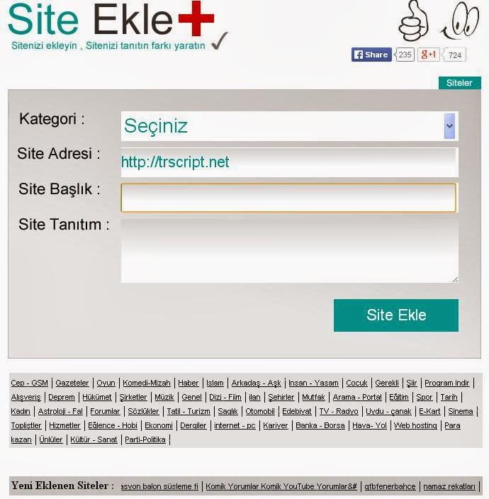 site ekle scripti, firma ekle scripti