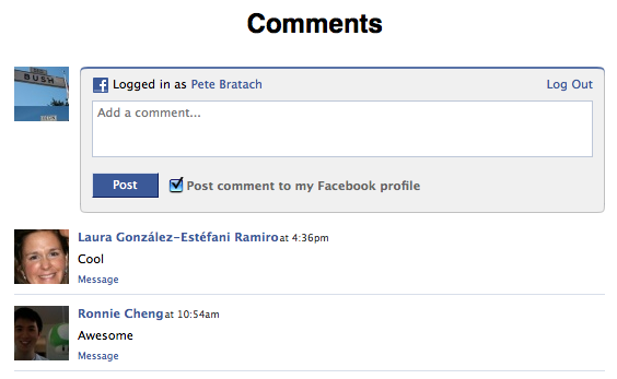 facebook comment for blogspot