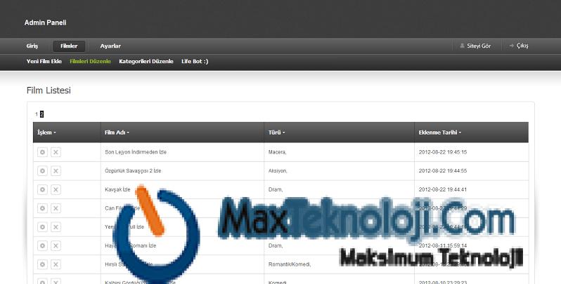 kurumsal web sitesi scripti