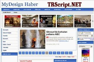 Haber - Mydesign Haber Portalı Scripti