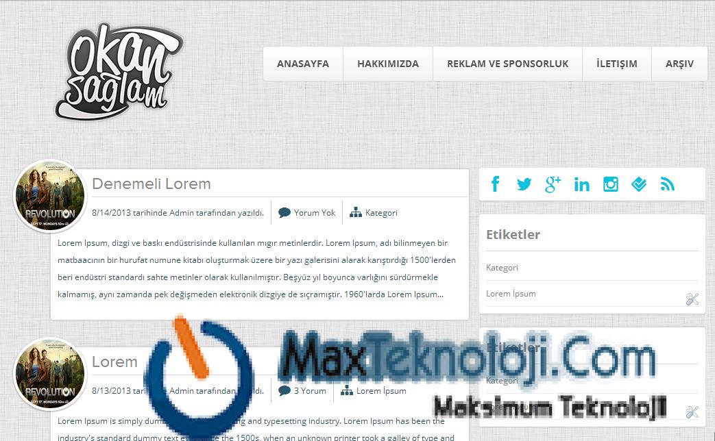 OSade Blogger Teması