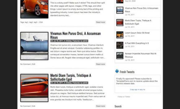 Ücretsiz WordPress Oto Galeri Teması
