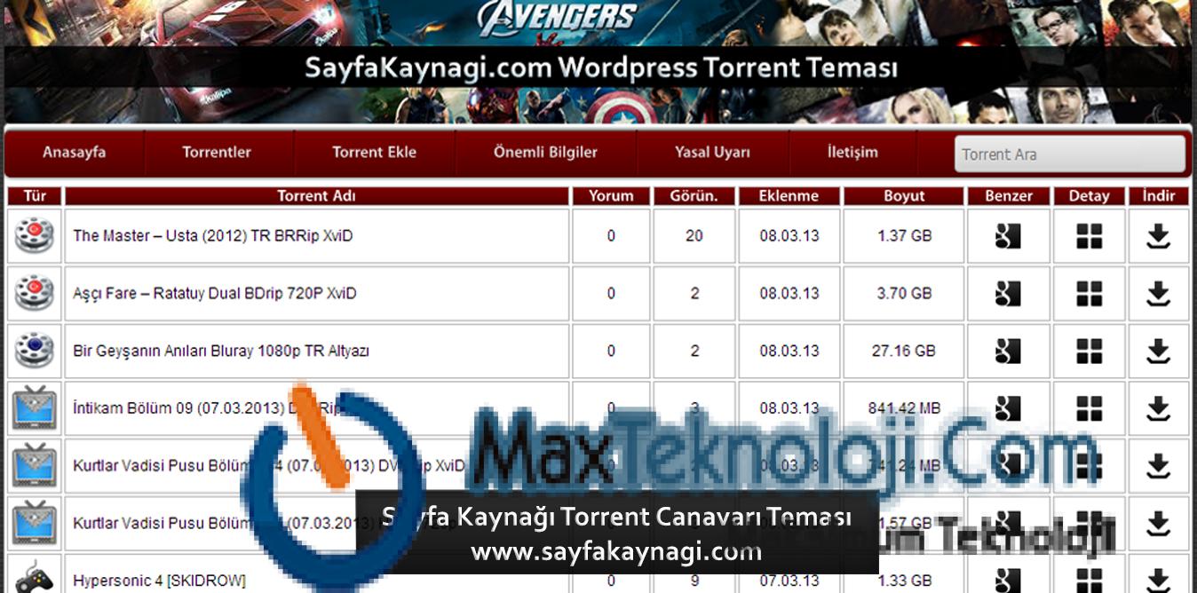 torrent canavarı 2013, türkçe wordpress torrent tema, ücretsiz wordpress temaları, ücretsiz wordpress torrent teması, wordpress torrent indir temalar