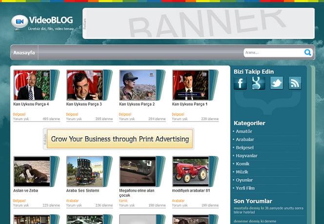 Ücretsiz video videoblog teması